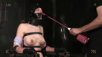 Tight bondage, domination and torture for naked slavegirl