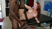 Redhead Lady Fucks On The Kitchen Table
