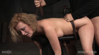 Cherry Torn - Busty big butt blonde bent over belt bound and used roughly by hard cock (2015)