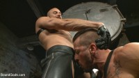Cock hungry leather studs play in a dark basement (gay vacation, young twink, twink bareback)!