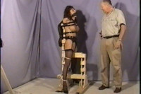 She Whimpers Every Once In A While As She Endures Her Tight Bondage