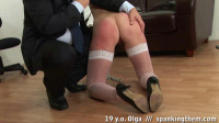 Lazy student gets an ass spanking lesson