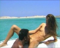 Interracial boat fun