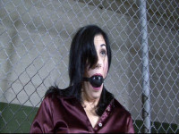 The corrupt security guard taped me up and shoved panties in my mouth