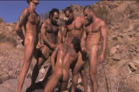 Mirage Outdoor orgy with Arabian men