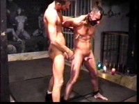 Slave boy Michael Knight experiences bondage, hard ass whipping