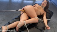 Big-Assed, Bombshell, Gets Tied-Up, and Robotically Blasted on Fucking Machines!!!