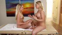 Kagney Linn Karter, Scarlett Sage - Massage My Wife FullHD 1080p