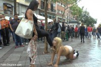 Japanese Slut is humiliated and put on display in Madrid