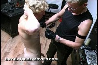Leather Torture in Studio Gay BDSM DVD - hot gay country boy!