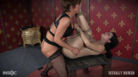 Sexy hot Asian Yhivi, rope bound, double fucked and deep throated. Lesbian rough sex and orgasms!