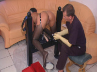 The ass with a horny filling enema fun