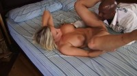 Devon Lee takes big black schlong in her girl hole
