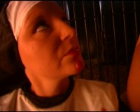 Horny nun pleasuring