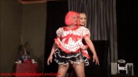 Pinky the Sissy — Handjob Humiliation — Shirley Temple Party Dress Bondage