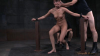 Fresh faced Bianca Breeze bound in metal shackles and used hard, rough sex and brutal deepthroat!