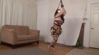 Bound and Gagged - Barefoot  in Bondage - Kelly KaneStrappado for Tracy Jordan