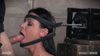 The Ultimate MILF Is Bound On The World's Only Face Fucking Machine And On A Sybian