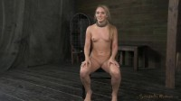 Applegate shackled and blindfolded, facefucked with brutal challenging deepthroat, used hard!