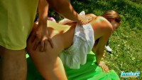 Teen At The Picnic With Hard Dick