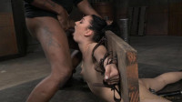 Sexsy Aria baund in brutal back arch and throuatboarded with punishing deepthroat on BBC!