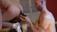 Barebacking With Lars Svenson (dark alley, group sex, alley media, take turns)