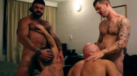 Dirk Caber, Jesse Jackman, Rogan Richards and Skippy Baxter - Motel Muscle 4 Way