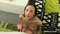 Filling Of Open Pussy and Ass With A Stream Of Her Mans Pee