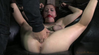 Tiny, big natural breasted redhead Penny Pax fucked into the ground by 2 dicks!