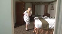 Bound and Gagged – Big-Boob Hotel Maid Lorelei Hopping in Bondage