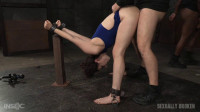 Wholesome starlet Endza Adair bound and used without mercy in metal bondage, BBC pounding!