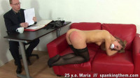 25 y.o. Maria - spanked with anal ball in her anus.