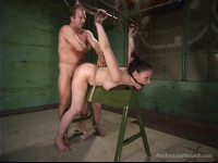 Caroline Piere is put into a Bondage