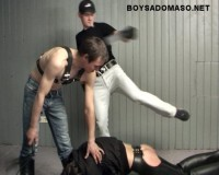 BoySM: Extreme Straight Male Strapping by young extreme Rowdies