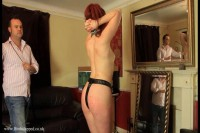 Petgirl prepares for the master visit- undresses and collares herself