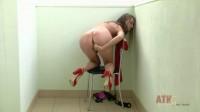 Pregnant Izolda strips off her red dress (2014)