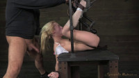 Lil pixie Odette Delacroix, deep throating. Bound, vibrated and throat blasted! (2014)