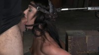 Jennifer White Shackled Bound In The Blowjob Machine, Brutal Drooling Deepthroat!