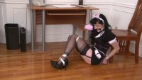 Bound and Gagged - Hogtied French Maid Mary Jane Green