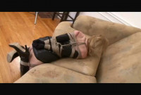 Bound and Gagged - Leather Dress, Bound for Orgasm