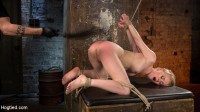 Blonde Pain Slut in Brutal Bondage and Suffering Grueling Punishment