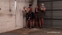 Bondage and pussy torture for four beautiful girls
