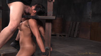 Busty Asian Mia Li shackled to sybian throatboarded without mercy two hard cocks! (2015)