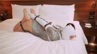 Silver Bed Bound Beauty
