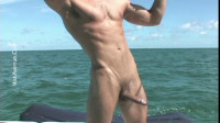 ManAvenue — Straight Muscle Stud, Adam, Jerking His Huge Dick On Our Boat