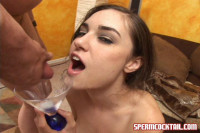 Young Cum eater.Excellent bukakke video with a pretty girl!