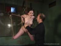 Caroline Piere Is Put Into A Bondage
