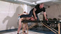 Bryan2-l - Wrists bound and ankles shackled, ballgagged, spanked
