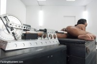 Newcomer meets the machines — She Takes it in her ass and pussy