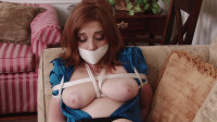 Bound and Gagged – Ginger Sparks Bound in Girdle and Stockings